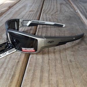 Women's motorcycle Sunglasses Padded gray metallic